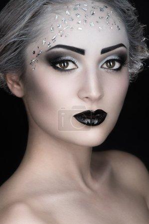 Woman with makeup, Face-art
