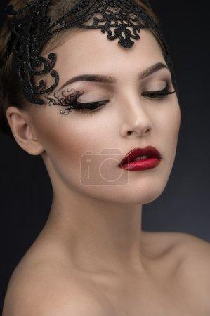 Woman in beauty crown