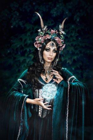 Beautiful fantasy elf woman
