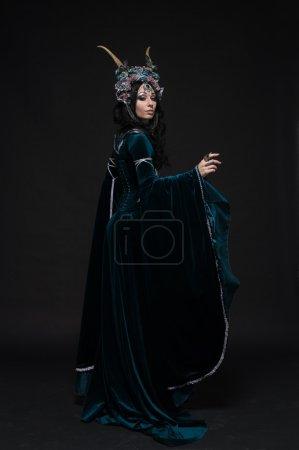 Woman in flower crown
