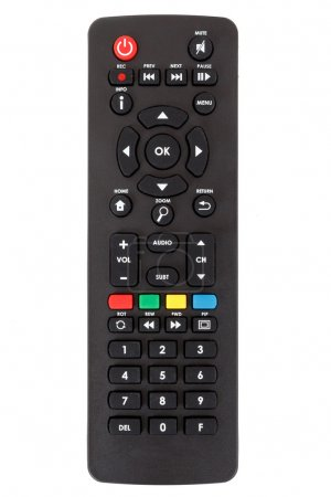 Photo pour Android set top box TV remote control isolated on white background - image libre de droit