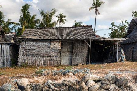 indonesian house shack on beach