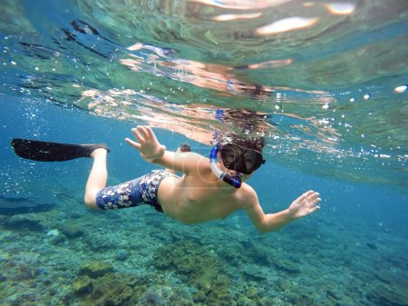 Underwater shoot of a young
