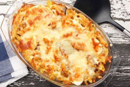 Casserole of macaroni and cheese