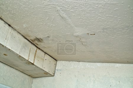 Ceiling damage from rain water leak