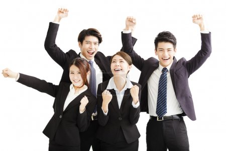 Photo for Portrait Of happy Young successful Business team - Royalty Free Image
