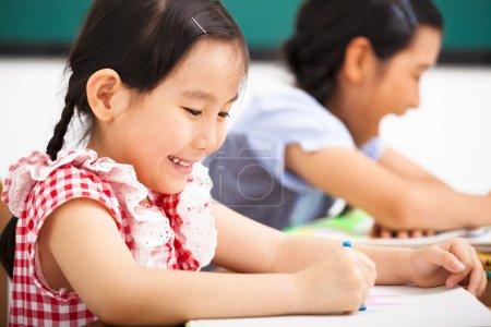 happy children in the classroom