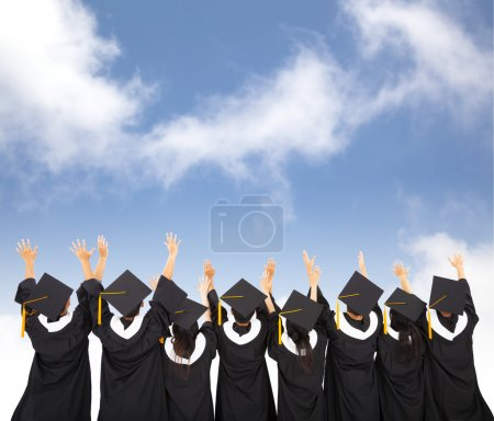 Photo for Rear view Of  Students Celebrating Graduation - Royalty Free Image