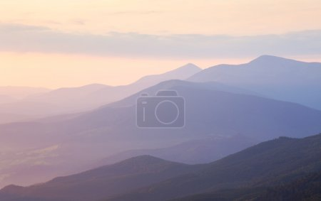 Gentle Morning colors in Mountain range Landscape