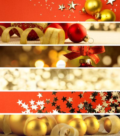 Set of Christmas Banners - decorations background