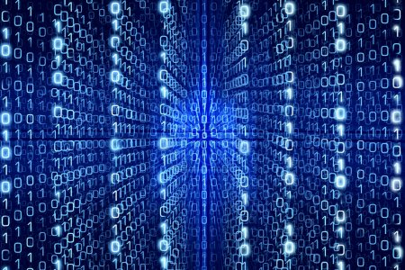 Blue Matrix Abstract  Digital background