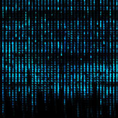 Blue Matrix Abstract - binary code screen background