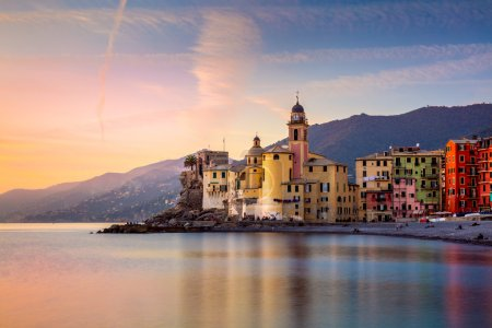 Beautiful Small Mediterranean Town at the sunrise