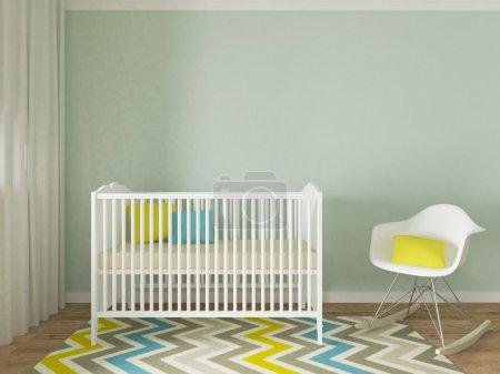 boy nursery interior