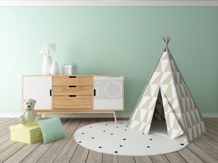 Photo for Boy room interior, children room, playroom - Royalty Free Image