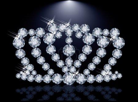 Diamond princess crown, vector illustration