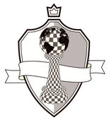 Coat of arms chess pawn vector illustration