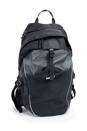 cycling backpack, isolated