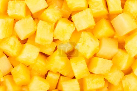 Photo for Pineapple chunks background closeup many - Royalty Free Image