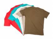 Bunte Baumwoll-t-Shirts