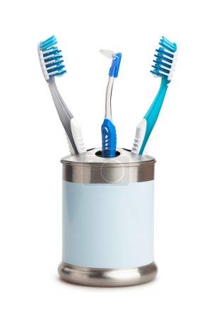 Photo pour Brosses à dents isolées sur fond blanc - image libre de droit