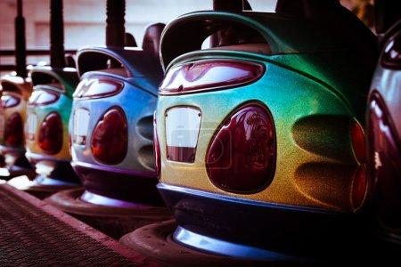 Bumper cars in row