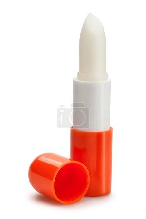 Photo pour Baume hydratant pour les lèvres isolé sur fond blanc - image libre de droit