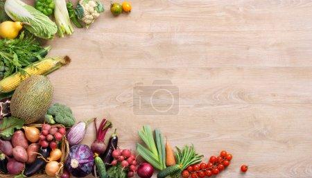 Fresh farmers market fruit and vegetable