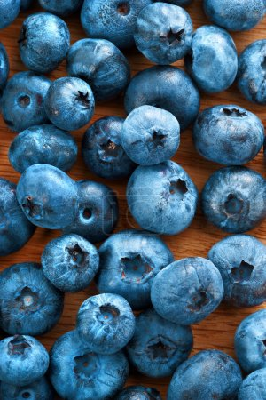 Healthy blueberries background.