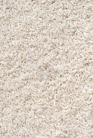 Photo for Background of long white rice. Close up, top view, high resolution product. - Royalty Free Image