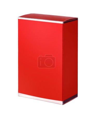 Photo pour Studio de photographie de la zone rouge pour la cosmétique - isolé sur fond blanc - image libre de droit