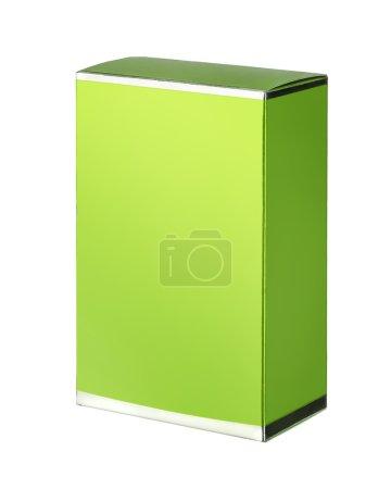 Photo pour Studio de photographie de la catégorie verte pour les produits cosmétiques - isolé sur fond blanc - image libre de droit