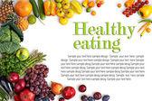 Egészséges táplálkozás háttér