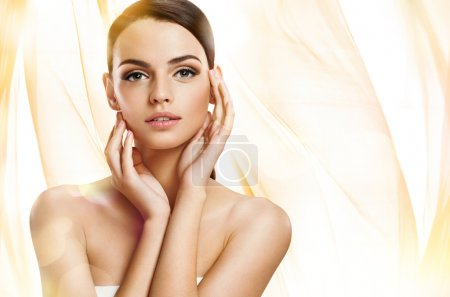 Beautiful girl with beautiful makeup, youth and skin care concept