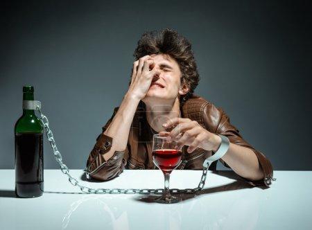 Alcoholic drunk man