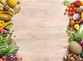 """Постер, картина, фотообои """"здоровый продовольственный фон"""""""