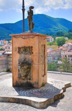 Panoramic view of Brienza. Basilicata. Italy.