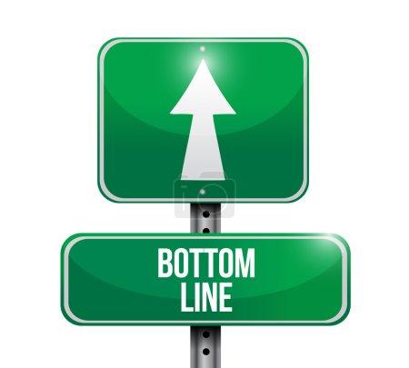 budget cost road sign illustration design