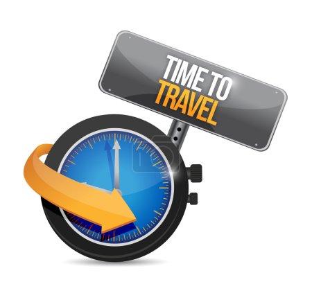 Photo pour Temps de voyage concept illustration conception sur un fond blanc - image libre de droit