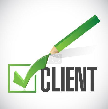 client check mark illustration design