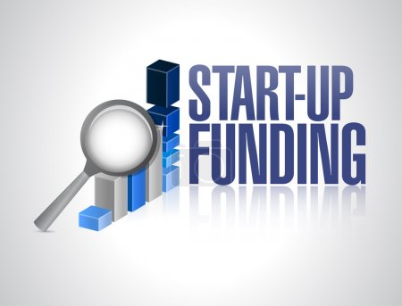 Photo pour Création d'entreprise financement signe illustration conception sur un fond blanc - image libre de droit