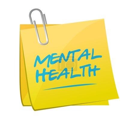 mental health memo post illustration design