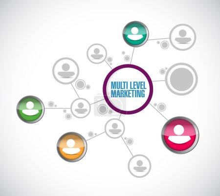 Photo for Multi level marketing network illustration design over a white background - Royalty Free Image