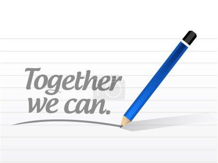 together we can message illustration