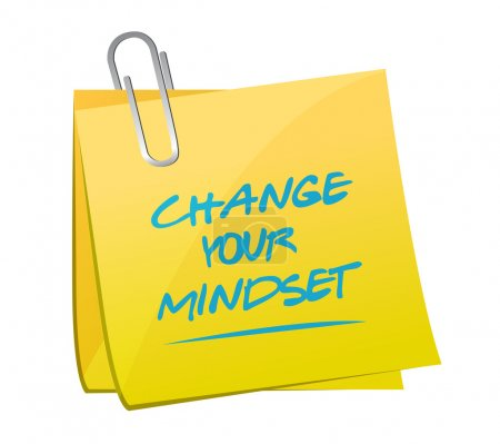 change your mindset memo illustration