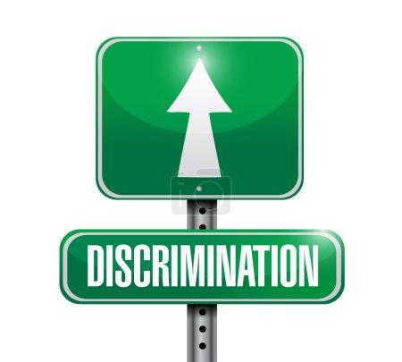 Photo pour La discrimination signe de rue illustration dessin sur fond blanc - image libre de droit