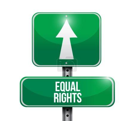 equal rights street sign illustration