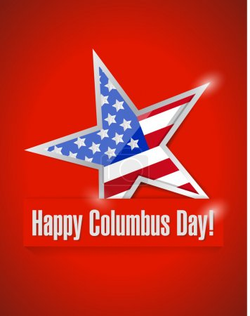 happy columbus day illustration design