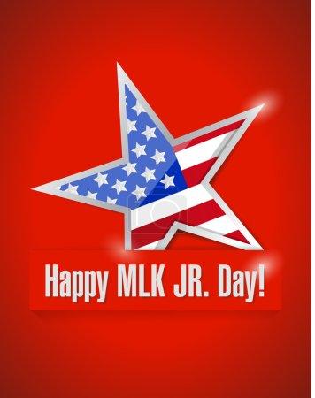Happy MLK jr day illustration design over a red ba...
