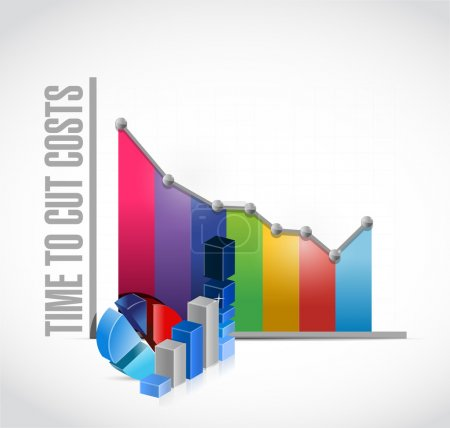time to cut costs business graph,